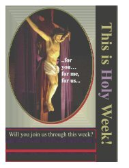 Will you join us through this week? ..for you ... - St. Colette Church