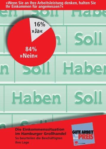 Broschüre zur Einkommenssituation im Hamburger Großhandel