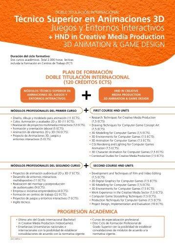 Técnico Superior en Animaciones 3D Juegos y Entornos ... - CEV