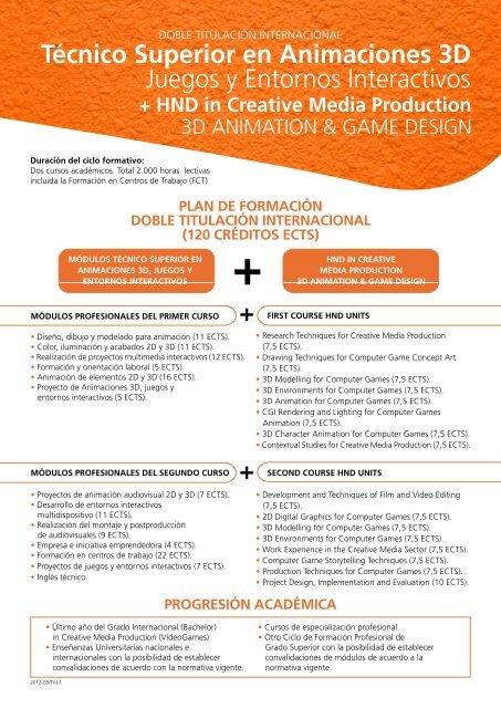Técnico Superior En Animaciones 3d Juegos Y Entornos Cev