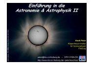 Einführung in die Astronomie & Astrophysik II