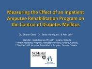 McMaster University Physical Medicine & Rehabilitation Program