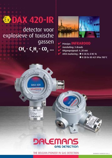 DAX 420-IR - Dalemans Gas Detection