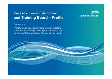 Wessex LETB Profile - Workforce and Education