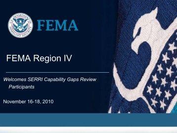 FEMA Region IV Meeting - Nov 2010