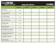 CDGSX4 Version to Version Mat... - Corel Corporation
