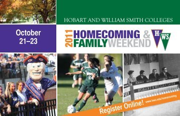 homecoming & familyweekend - Hobart and William Smith Colleges