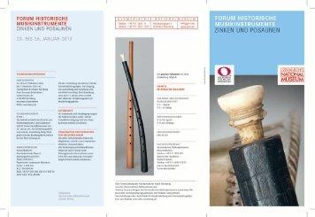Programm des Forums Historische Musikinstrumente