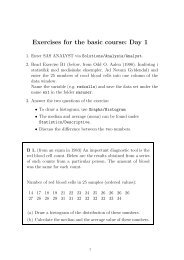 Exercises for the basic course: Day 1