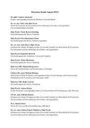 Dozenten (Stand August 2013) - Ausbildungsprogramm Kinder