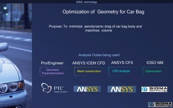 Optimization of Geometry for Car Bag