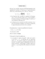 Esercizi 3 - Istituto per le Applicazioni del Calcolo