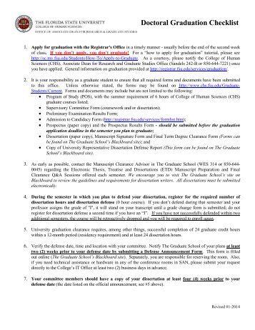 Uci dissertation checklist