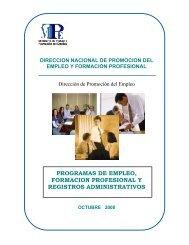 programas de empleo, formacion profesional y registros ...