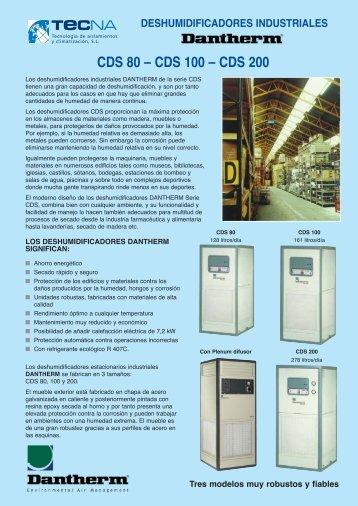 Deshumidificadores industriales CDS - Tecna