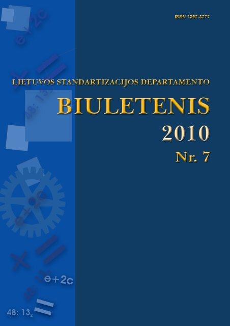 2010 Nr. 7 - Standartizacijos departamentas prie AM