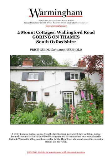 2 Mount Cottages, Wallingford Road GORING ON ... - Warmingham