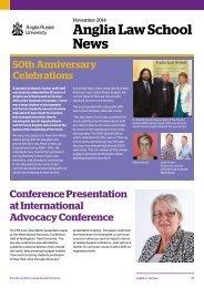 Anglia Law School Newsletter Winter 2014