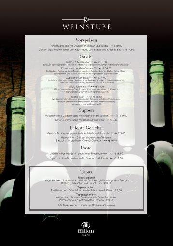 Vorspeisen Salate Suppen Leichte Gerichte Pasta ... - Hilton HHonors
