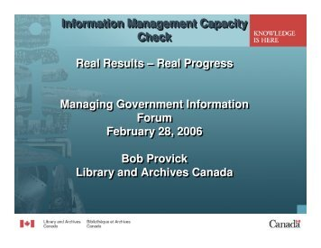 Information Management Capacity Check Real Results - Verney ...