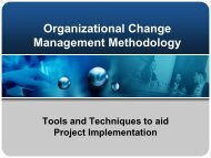 Organizational Change Management Methodology