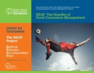 REAP the Benefits of Good Concussion Management - LEARNet