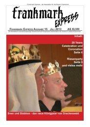 Frankmark Express Ausgabe 15, Juli 2013 - Vielburgen
