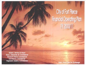 Proposed Budget for Fiscal Year 2010/11 - City of Fort Pierce