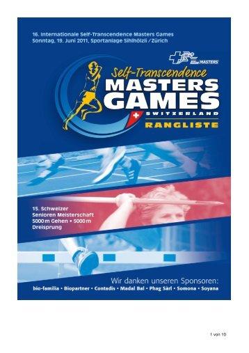 Rangliste Masters Games 19_06_11 - Sri Chinmoy Marathon Team ...