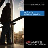 Folleto - Postgrados • Facultad de Economía y Empresa UDP