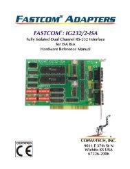 FASTCOM®: IG232/2-ISA HARDWARE MANUAL - Commtech ...