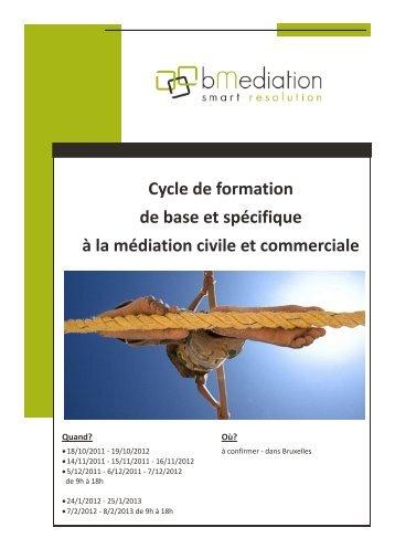 Cycle de formation de base et spécifique à la médiation civile ... - BECI