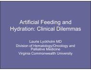 Artificial Feeding and Hydration - VCU Internal Medicine Electronic ...