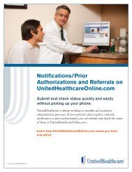 Notifications & Referrals - UnitedHealthcareOnline.com