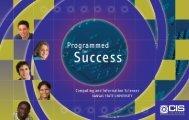 CIS Brochure.qxd - Computing and Information Sciences - Kansas ...