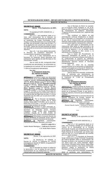 Edicion Especial Nro 10 - Municipalidad de Morón
