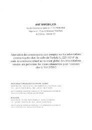 Attestation des Commissaires aux comptes sur les ... - ANF Immobilier