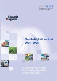 Nachhaltigkeit konkret 2004–2006 - Econsense