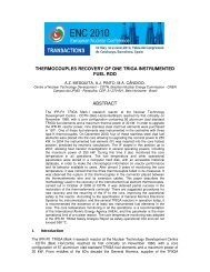 thermocouples recovery of one triga instrumented fuel rod ... - CDTN