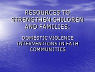 Resources to Strengthen Children and Families - Southern Adventist ...