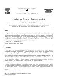 A variational Cam-clay theory of plasticity - Solid Mechanics Home ...