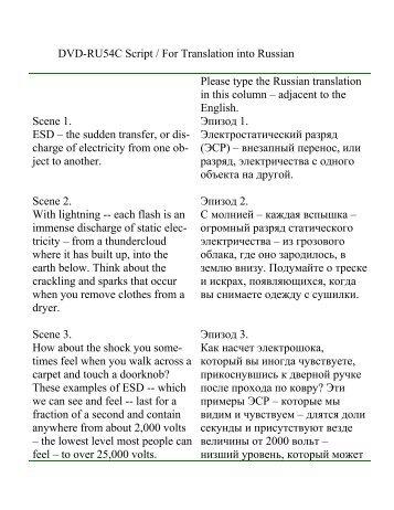 VT-54 Script / For Translation into Spanish 11-01 - IPC