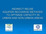 indirect reuse aquifer recharge methods to optimize capacity