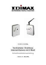 Verdrahtete / Drahtlose Internet-Kamera mit 2 Modi - Edimax
