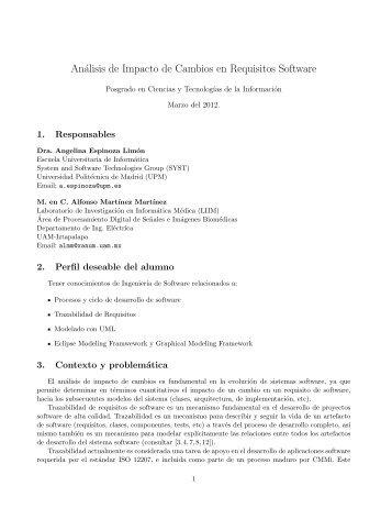 Análisis de Impacto de Cambios en Requisitos Software