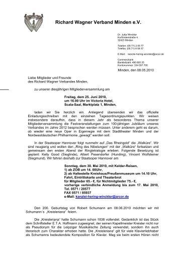 Rundschreiben 3 / 2010 - Richard Wagner Verband Minden eV