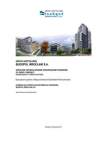 Skonsolidowane sprawozdanie finansowe za I kw. 2012 Grupy ...
