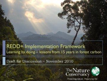 REDD+ Implementation Framework - Conservation Gateway