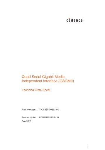 Quad Serial Gigabit Media Independent Interface (QSGMII)