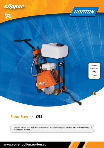 Floor Saw C51 - Norton Construction Products
